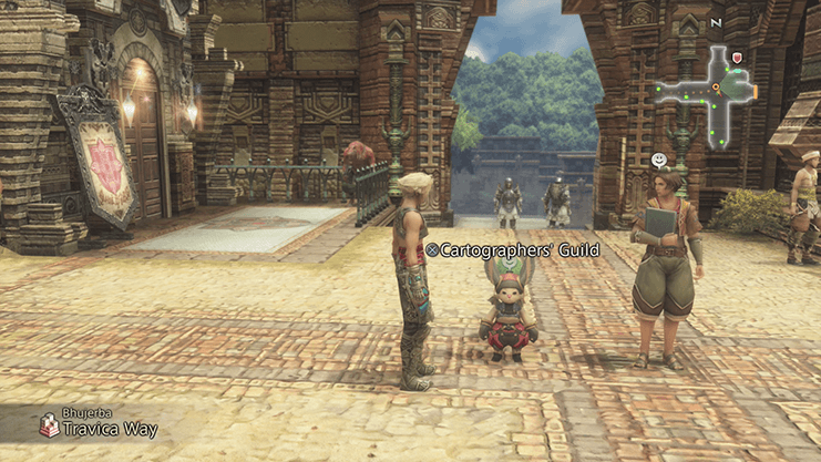 Speaking to the Cartographer's Guild moogle to buy a map