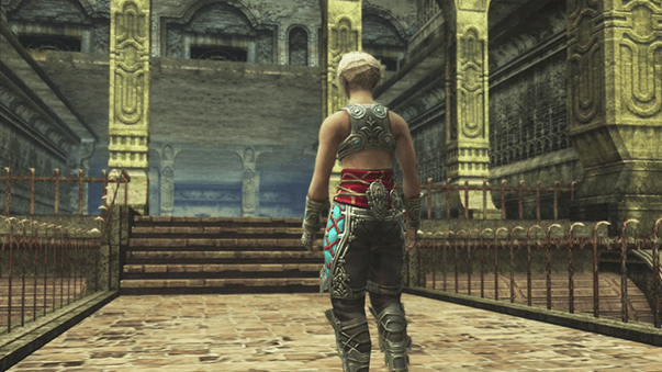 Vaan staring at the entrance to the Lhusu Mines