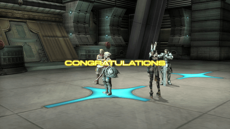 Congratulations screen that appears after defeating the Judges and Imperial Soldiers in the Central Brig Access