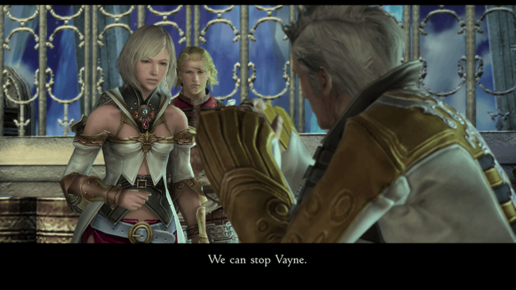 Basch asking Ashe if he can come with her