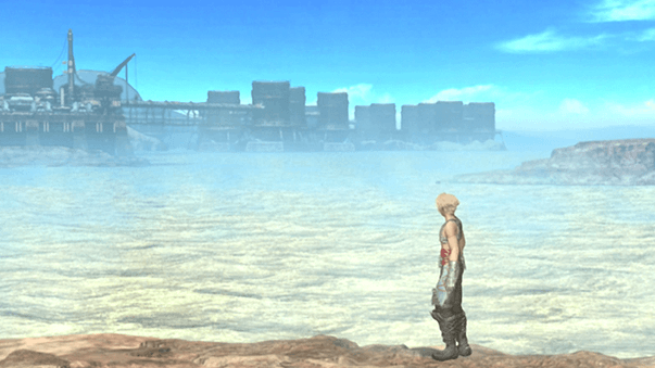 Vaan looking over the Ogir-Yensa Sandsea during the opening cinematic