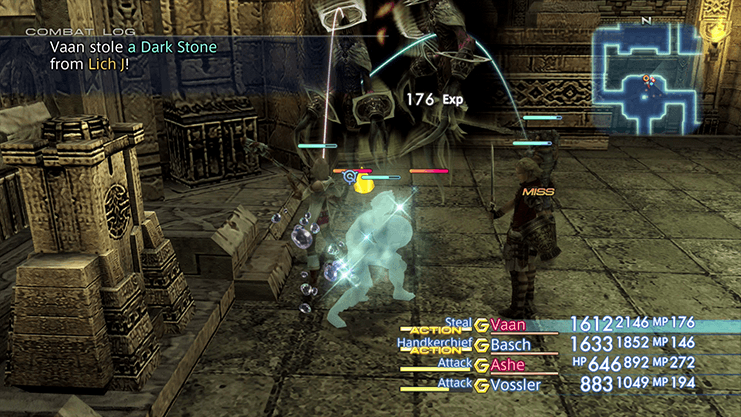 Defeating the group of Lich enemies that appear after activating the second jewel