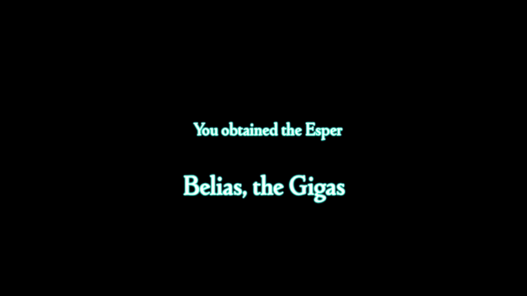 You obtained the Esper Belias the Gigas
