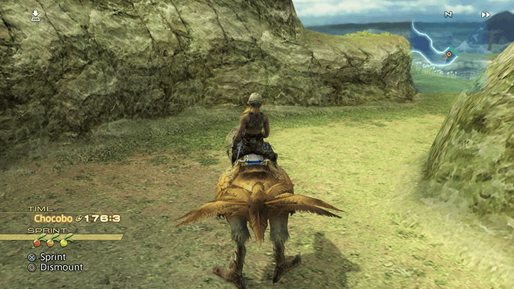 Riding a Chocobo through the Field of Light Winds in the Ozmone Plain