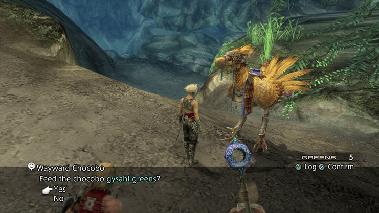Feeding Gysahl Greens to the Wayward Chocobo in the Rays of Ashen Light