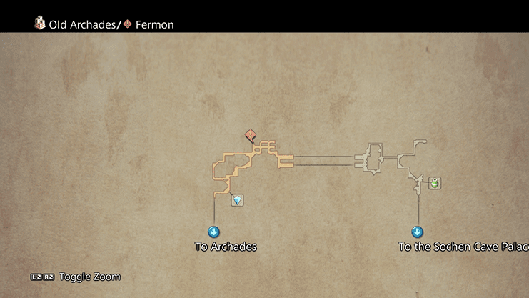 Map indicating where to find Fermon in the Alley of Low Whispers