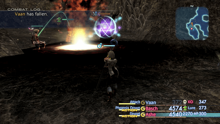 Battle against Overlord with Vaan dying