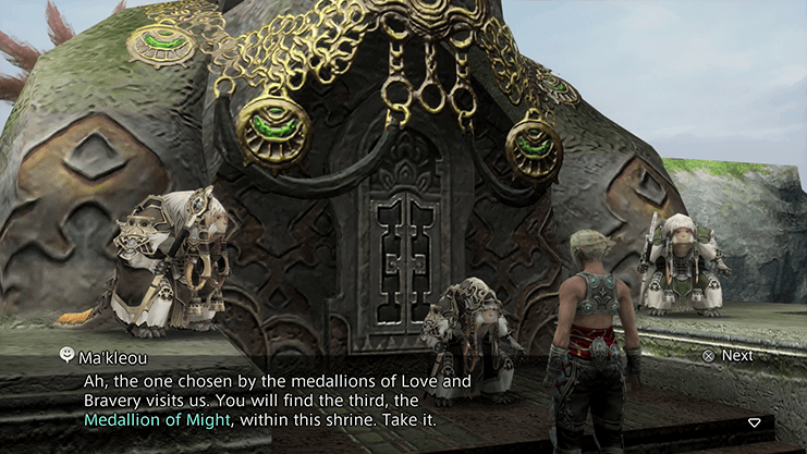 Vaan obtaining the Three Medallions