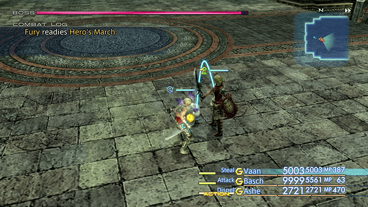 Battle against Fury with Vaan stuck in Berserk mode