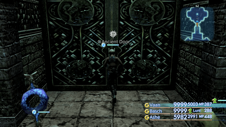 Entering the room that contains Zeromus in the Stilshrine of Miriam