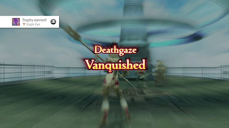 Obtaining the Eagle Eye Trophy for defeating Deathgaze and completing Hunt 26