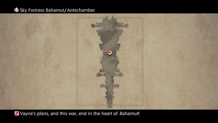 Map of the Sky Fortress Bahamut