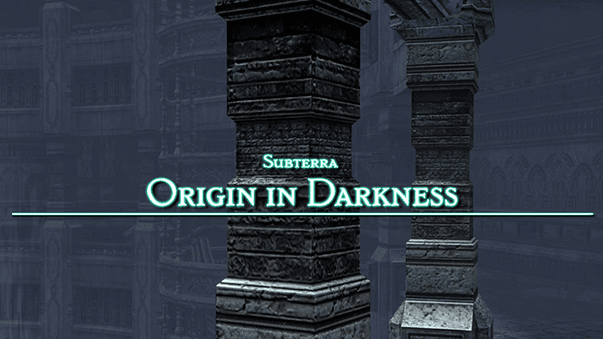 Subterra Origin in Darkness title screen