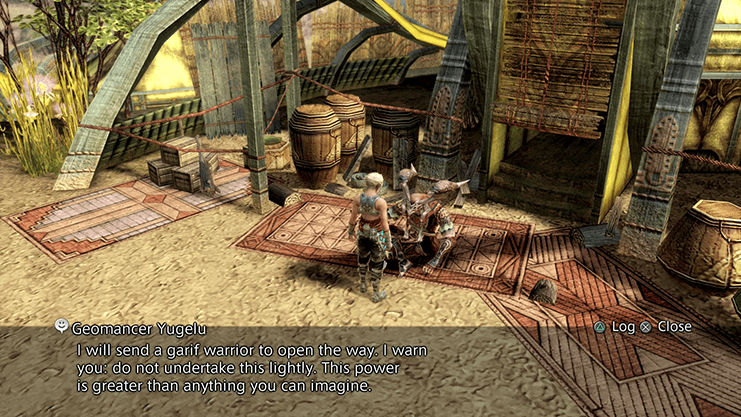 Speaking to Geomancer Yugelu in Jaraha Lull of the Land