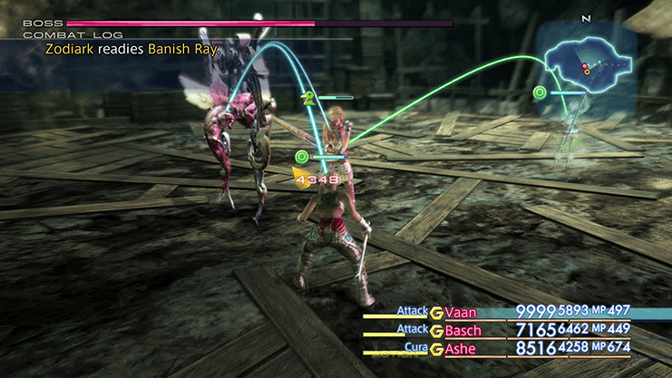 Battle against Zodiark with it using Banish Ray