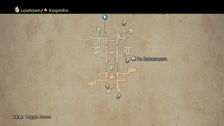 Map indicating where to find Koqmihn to initiate Hunt 42