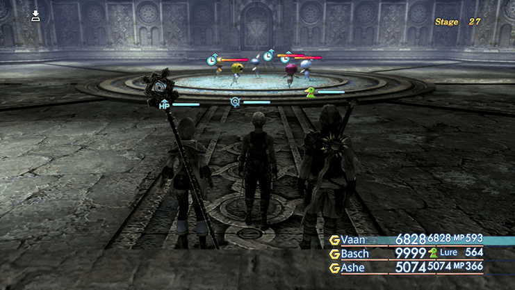Battle against the Mandragoras during Trial Mode Stage 27