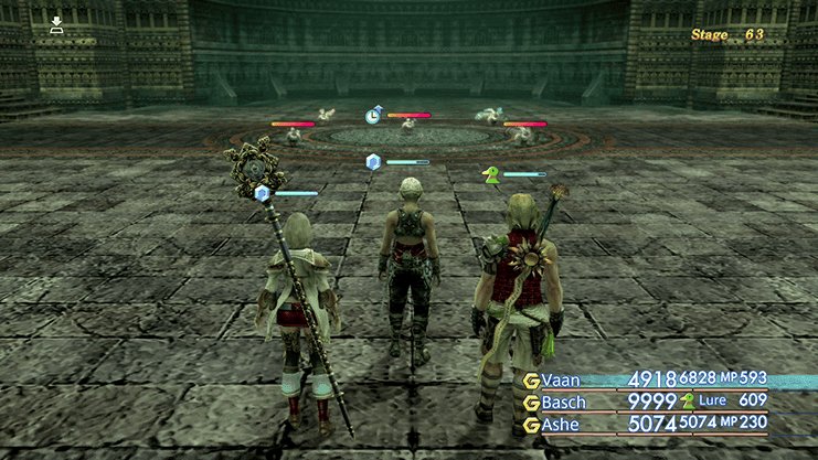 Battle against Fury, My, Ozmone Hare, Vorpal Bunny and Wyrdhare during Trial Mode Stage 63