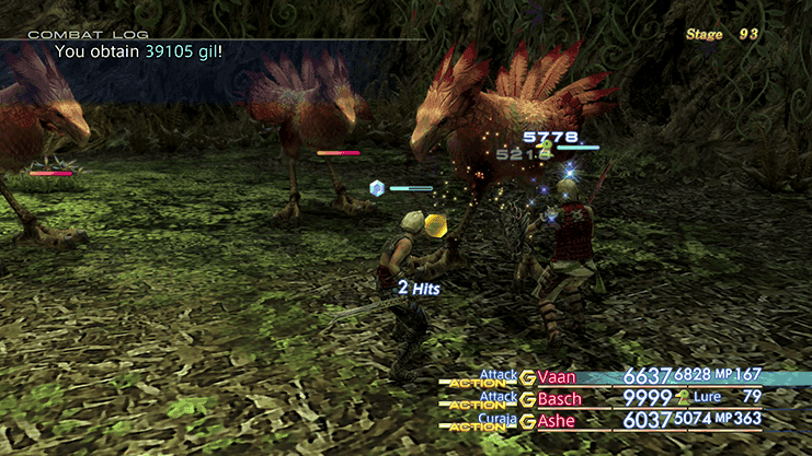 Battle against Lv.99 Red Chocobo during Trial Mode Stage 93
