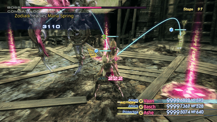 Battle against Zodiark during Trial Mode Stage 97