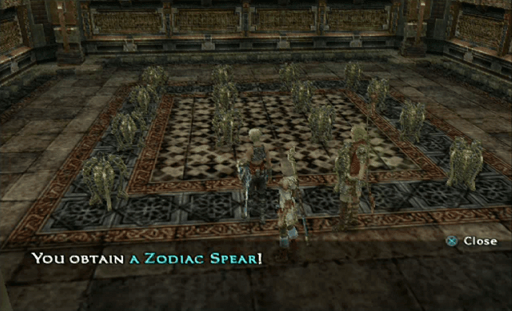 Zodiac Spear in the Necrohol of Nabudis in the PlayStation 2 Version