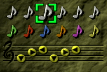 Saria's Song in the menu screen