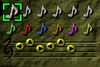 Zelda's Lullaby in the menu screen
