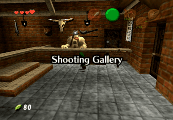 Entering the Shooting Gallery in Hyrule Market