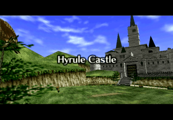 The Hyrule Castle Title Screen