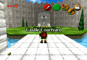 Entering the Castle Courtyard title screeb
