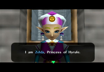 Princess Zelda introducing herself