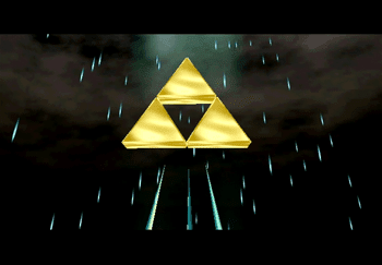 The Triforce during Princess Zelda's story