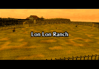 Lon Lon Ranch at dusk Title Screen