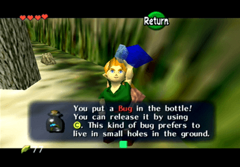 Obtaining a Bug in a Bottle at Hyrule Castle