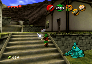 Cucco near the gate leading to Death Mountain Trail