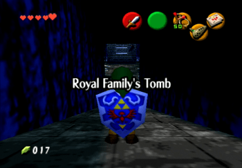Entering the Royal Family's Tomb Title Screen