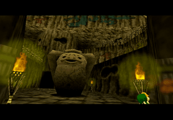 The large moving pot in the center of Goron City