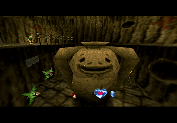 Obtaining the Piece of Heart from Goron City