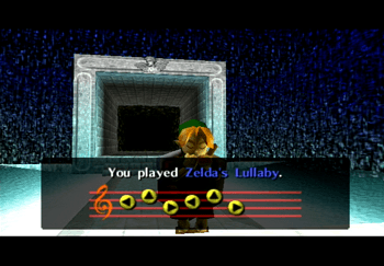 Young Link using Zelda's Lullaby