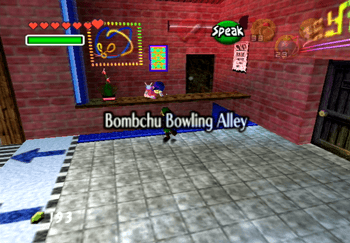 Entering the Bombchu Bowling Alley title screen