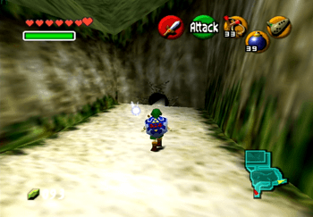 The small hole in the wall in Hyrule Castle leading to the Great Fairy's Fountain