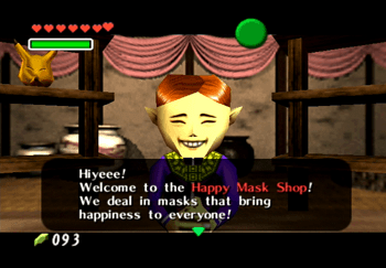 Speaking to the Happy Mask Shop owner