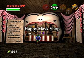 The Happy Mask Shop in Hyrule Market