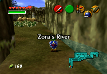 The entrance to Zora's River title screen