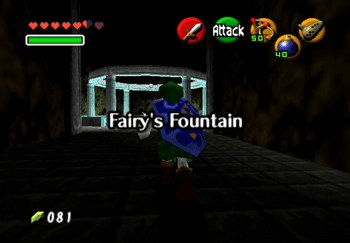 Entering the Fairy's Fountain