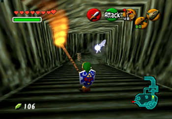 Running down the stairs that lead to Zora's Domain