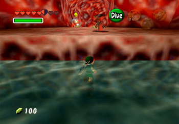 Throwing Princess Ruto up onto the ledge