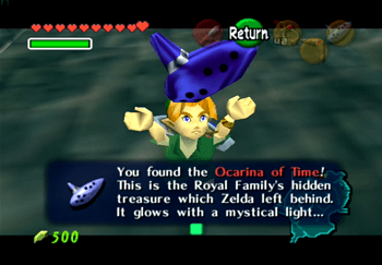Obtaining the Ocarina of Time from the Hyrule Castle moat