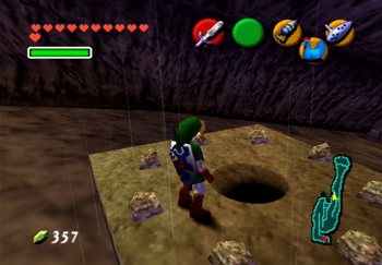 Secret Cave near the entrance to Goron City