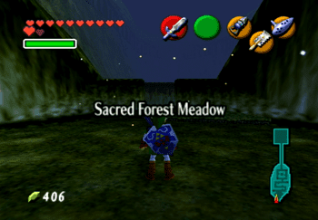 Entering the Sacred Forest Meadow Title Screen